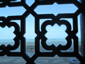 I went to the Hassan II mosque at least three times before realizing that the brochure is incorrect - it is not built on the water, it is built next to the water.  I had been imagining some hidden room with a glass floor!